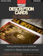 """Description Cards - Storytellers Deck - ILL INTENT excerpt - (Creative Inspiration for Writers, Storytellers and GMs): Contains 12 Cards from the """"Description Cards - Storytellers Deck"""""""