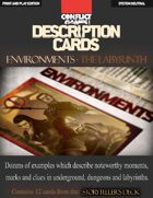 "Description Cards - Storytellers Deck - LABYRINTH excerpt - (Creative Inspiration for Writers, Storytellers and GMs).: Contains 12 Cards from the ""Description Cards - Storytellers Deck"""