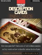 "Description Cards - Storytellers Deck - PAIN CARDS excerpt - (Creative Inspiration for Writers, Storytellers and GMs).: Contains 12 Cards from the ""Description Cards - Storytellers Deck"""