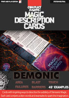 Magic Description Cards: DEMONIC MAGIC