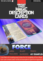 Magic Description Cards: FORCE FIELDS
