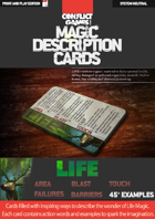 Magic Description Cards: LIFE MAGIC