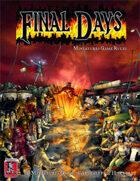 Final Days miniatures game rulebook