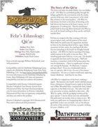 Fehr's Ethnology: Qit'ar [PFRPG]