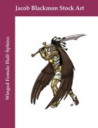 Stock Art: Winged Female Half-Sphinx