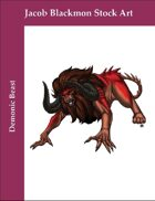 Stock Art: Demonic Beast