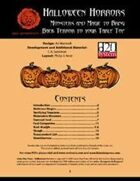 Lion's Den Press: Halloween Horrors
