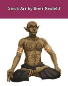 Stock Art: Male Half-Orc Mystic