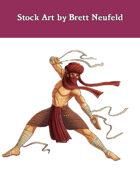 Stock Art: Male Zendiqi Monk