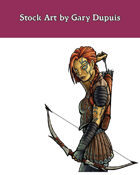 Stock Art: Female Android Archer