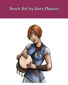 Stock Art: Female Gillmen Bard