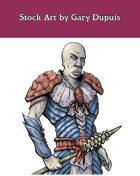 Stock Art: Male Gillmen Warrior