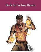 Stock Art: Male Gillmen Spellcaster