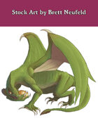 Stock Art: Green Dragon