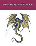 Stock Art: Blue Dragon