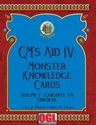 GM's Aid IV: Monster Knowledge Cards Volume 2 - Gargoyle to Owlbear