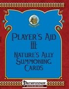 [PFRPG] Player's Aid III: Nature's Ally Summoning Cards