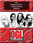 OGL Modern Horror/Urban Fantasy Bestiary