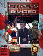 Citizens Divided Character Sheet
