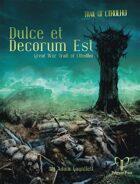 Trail of Cthulhu: Dulce et Decorum Est