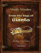 Weekly Wonders - From the Bags of Giants