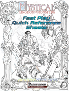 MKoM Fast Play Quick Reference Sheets (Pathfinder)
