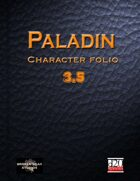 Paladin Character Portfolio 3.5