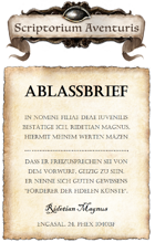 RIDETs Ablassbrief