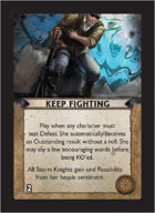 Torg Eternity - Core Earth Cosm Card - Keep Fighting