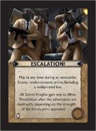 Torg Eternity - Core Earth Cosm Card - Escalation!