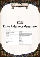 TDE5 Rules Reference Generator