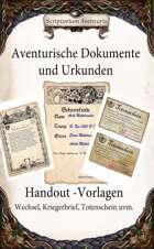 Aktentasche Aventuriens - Handouts - Vorlagen und Baukasten