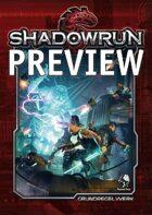 Shadowrun 5 Grundregelwerk - Preview: Inhaltverzeichnis