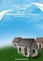 30mm Set of Three Medieval/Fantasy Cottages