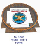 16 inch round scifi rooms