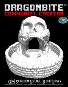 GM Screen Skull Dice Tray