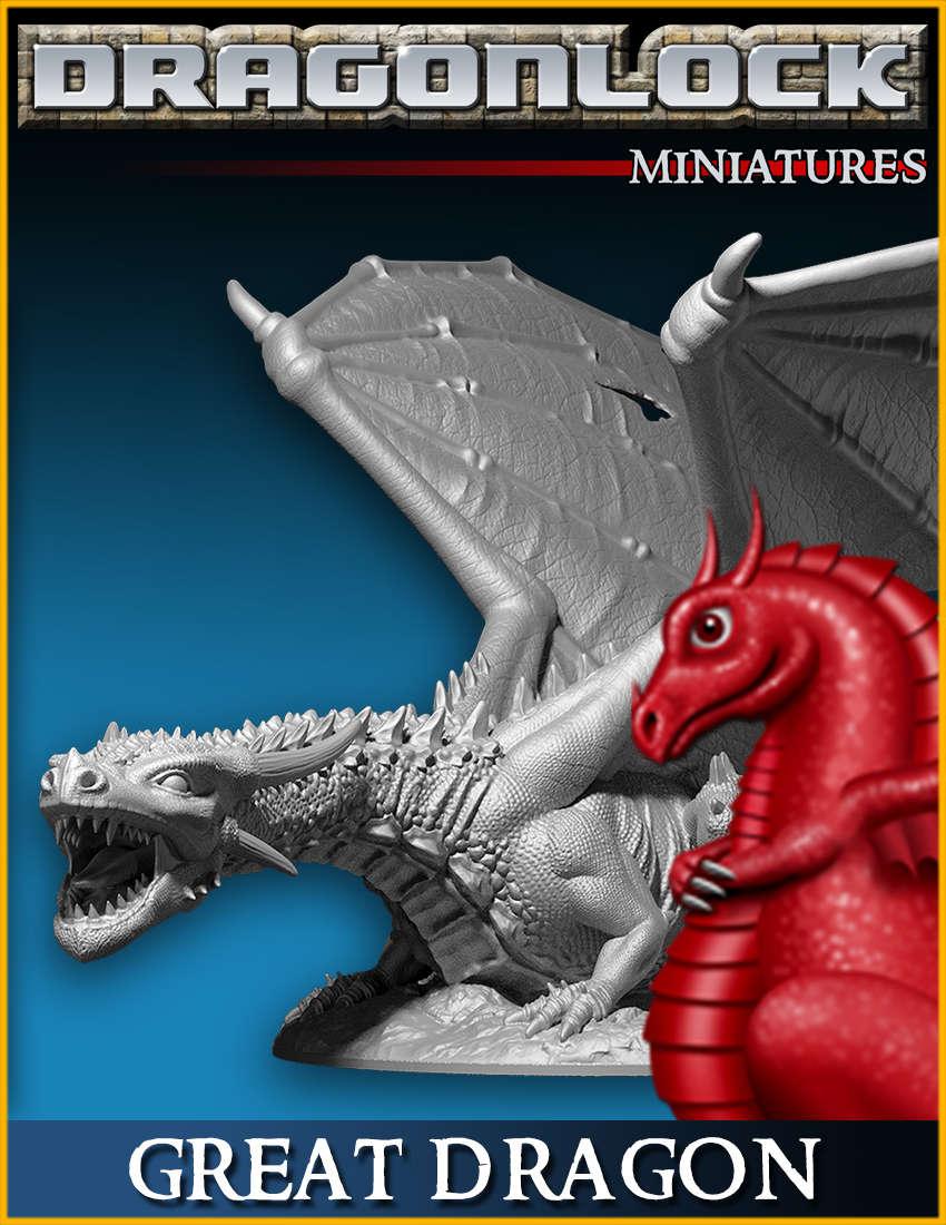 DRAGONLOCK Miniatures: Great Dragon