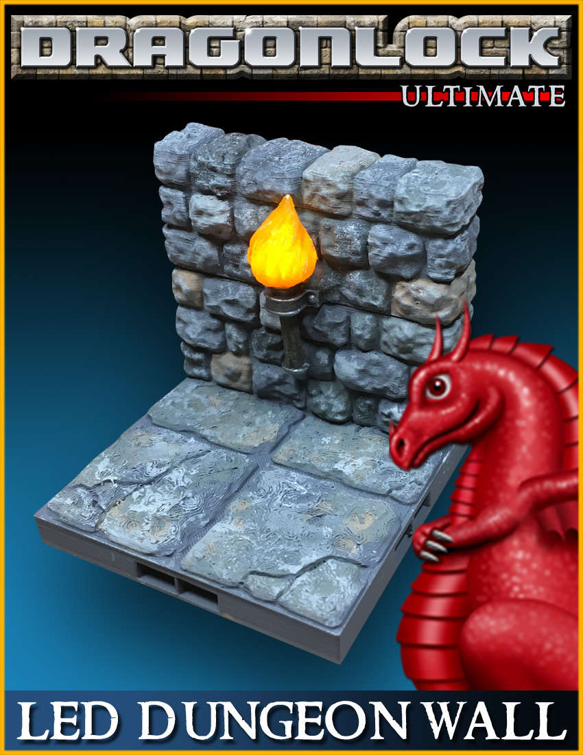 DRAGONLOCK Ultimate: LED Dungeon Wall (2x2 tile)