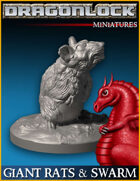 DRAGONLOCK Miniatures: Giant Rats & Rat Swarm