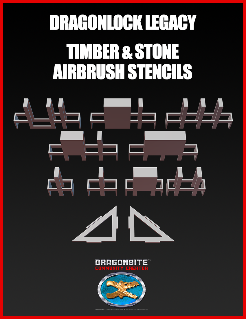 DRAGONLOCK Legacy Timber & Stone Airbrush Stencils