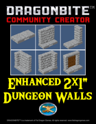 "Enhanced 2x1"" Dungeon Walls"