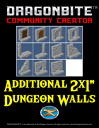 "Additional 2x1"" Dungeon Walls"