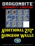 "Additional 2x1"" Dungeon Walls"