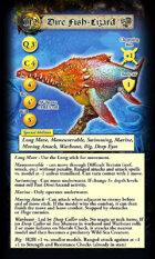 DeepWars - Scaly Horde Game Cards - Tarot Sized