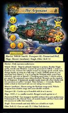 DeepWars - Submarine Game Card Template