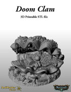 Doom Clam STL - 3D Printable Scenic Terrain