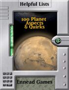 100 Planet Aspects & Quirks