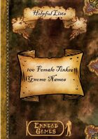 100 Tinker Gnome Names - Female