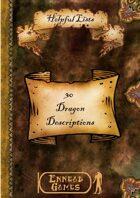 30 Dragon Descriptions