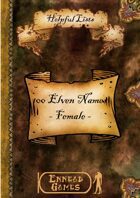 100 Elven Names - Female